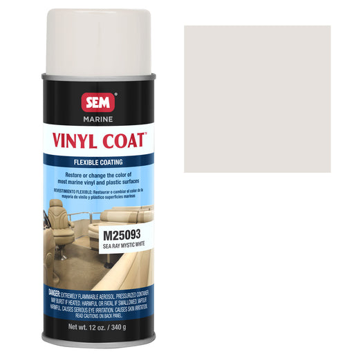Marine Vinyl Restoration Coating, Sea Ray Mystic White, 12 oz. Aerosol