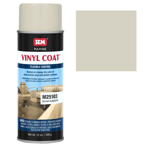 Marine Vinyl Restoration Coating, Sea Ray Alabaster, 12 oz. Aerosol