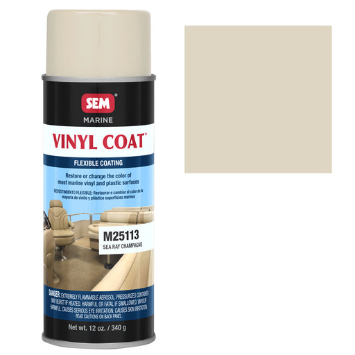 Marine Vinyl Restoration Coating, Sea Ray Champagne, 12 oz. Aerosol