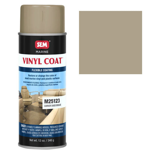 Marine Vinyl Restoration Coating, Carver Dade Bisque, 12 oz. Aerosol