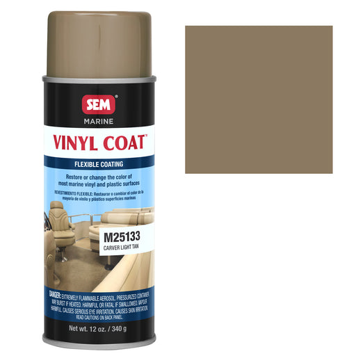 Marine Vinyl Restoration Coating, Carver Light Tan, 12 oz. Aerosol