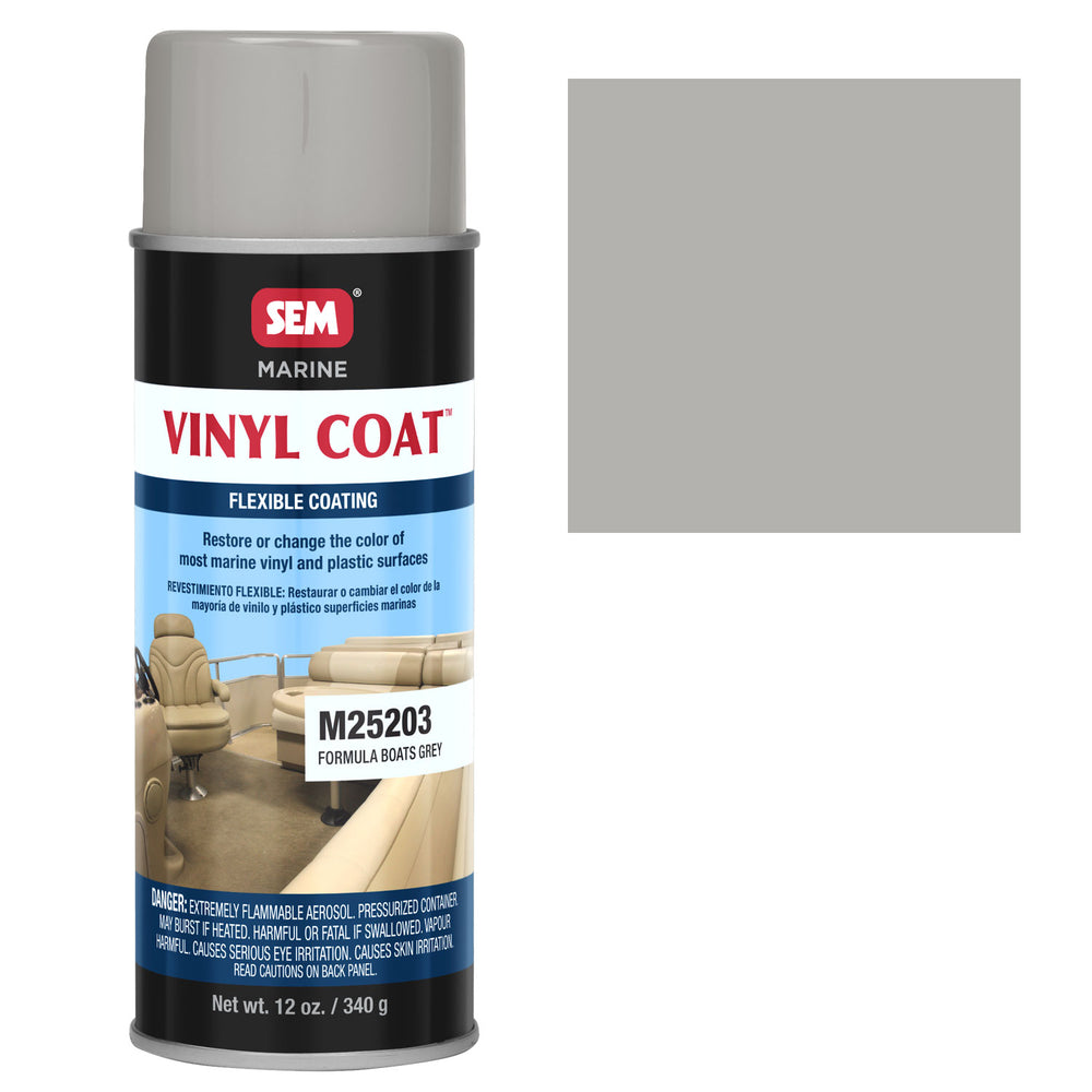 Marine Vinyl Restoration Coating, Formula Boats Grey, 12 oz. Aerosol