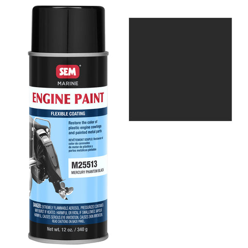 Marine Engine Cowling Coating, Mercury Phantom Black, 12 oz. Aerosol