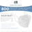 White KN95 Protective Masks, Case of 800 - Filter Efficiency ≥95%, 5-Layers, Protection Against PM2.5 Dust, Pollen, Haze-Proof - Sanitary 5-Ply Non-Woven Fabric, Safe, Easy Breathing
