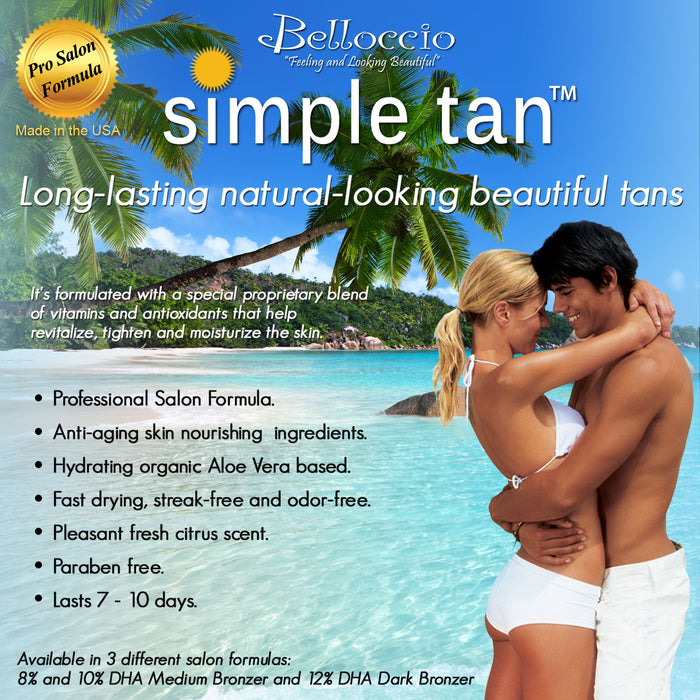 Belloccio Premium T75 Sunless HVLP Turbine Spray Tanning System; Simple Tan 4 Solution Variety Pack, Tent, Accessories & Video Link