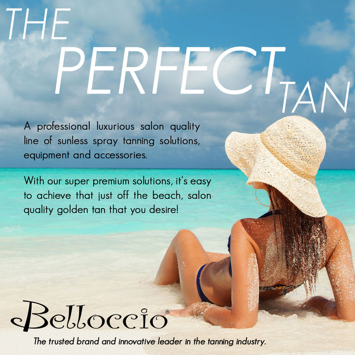 Belloccio Premium T75 Sunless Turbine Spray Tanning System with 4 oz. Simple Tan 8.5% DHA Medium & 12.5% DHA Dark Tanning Solutions & Video
