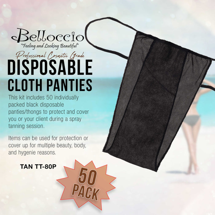 Belloccio 50 Disposable Panties: Panty Thong, Sunless Spray Tanning, Salon, Spa
