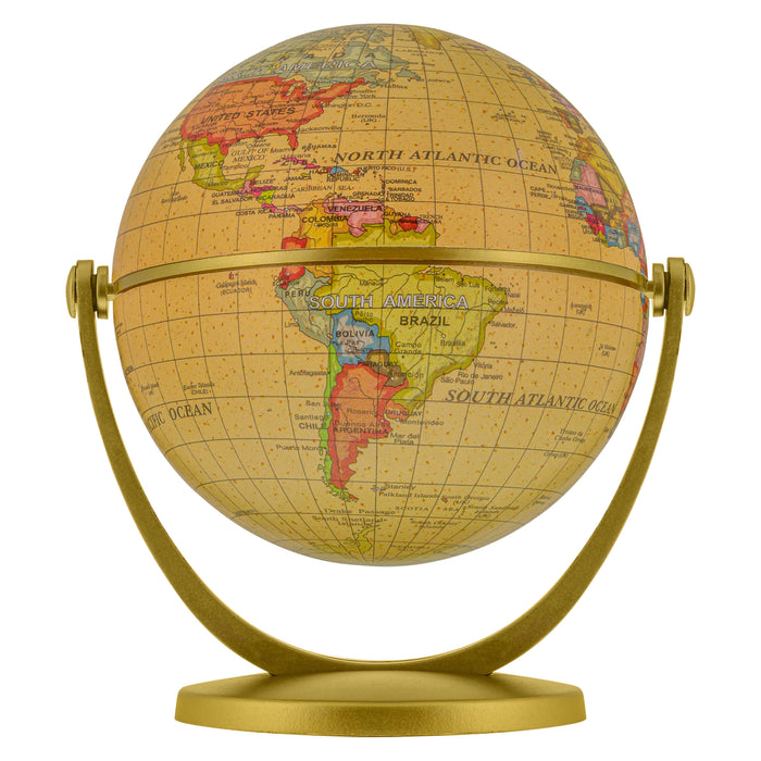 "4"" Tiltable Old World Style Educational Geographic Globe"