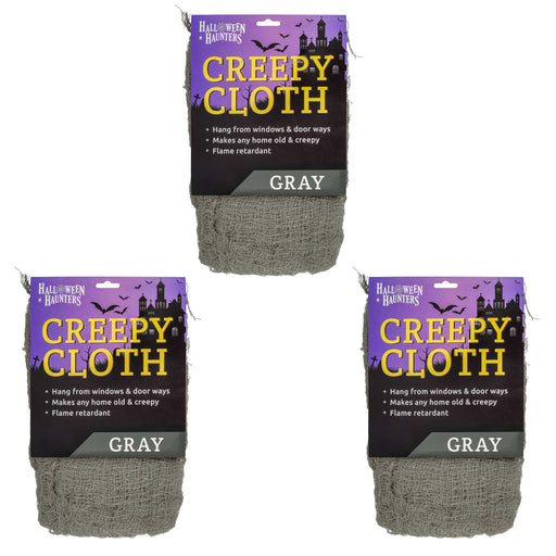 GREY Freaky Loose Weave Creepy Cloth Fabric (Pack of 3)