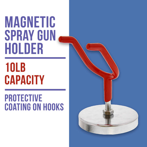 Magnetic Paint Spray Gun Holder Stand for Gravity Feed HVLP Booth Cup Body Shop Wall