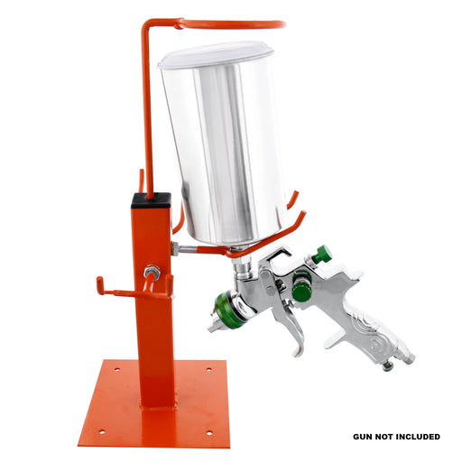 TCP Global Gravity Feed Paint Triple Spray Gun Holder Stand with Strainer Holder, Holds 3 HVLP Guns, Bench Mount