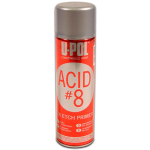 Acid#8 - Etch Primer M.I.R. Compliant, Gray, 450ml Aerosol