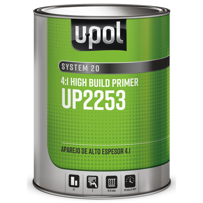2K High Build Primer 4:1, Gray, S2025, 1 Gallon