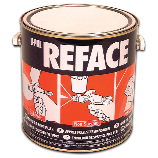 Reface Polyester Spray Filler, White, 1 Liter