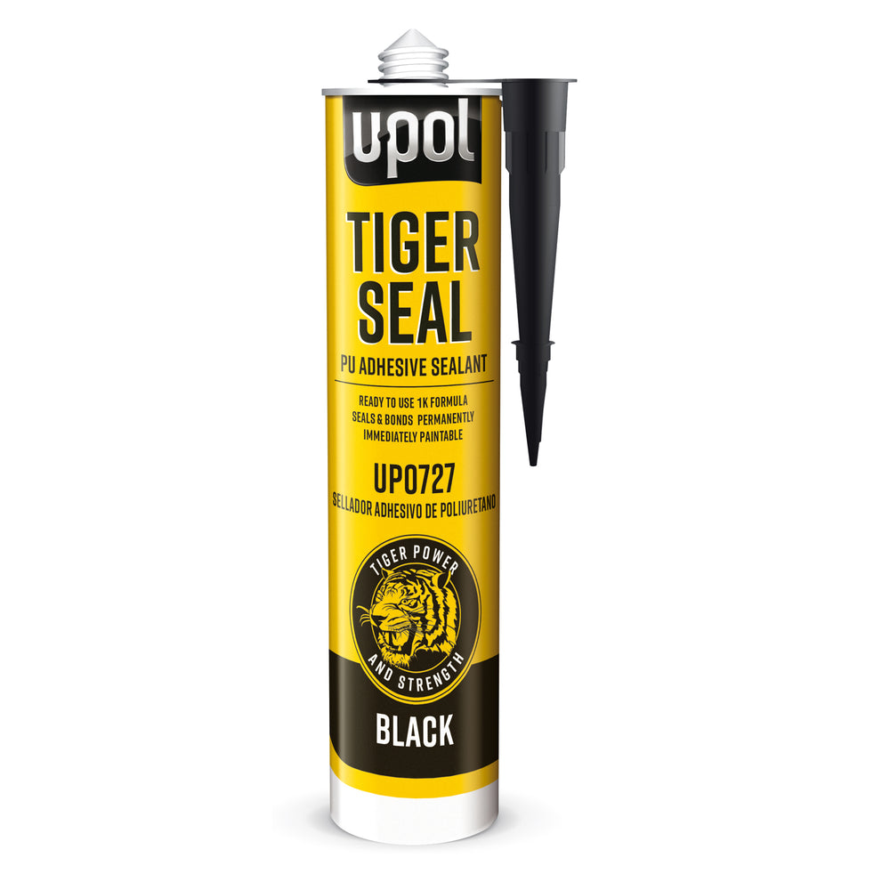 Tiger Seal PU Adhesive & Sealant, Black, 310ml Cartridge