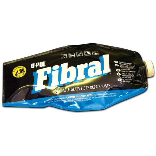 Fibral Sandable Glass Fiber Repair Paste, Yellow, 600ml Filler Bag