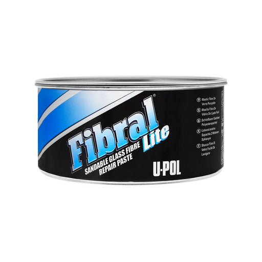 Fibral Lite Lightweight Sandable Glass Fiber Repair Paste, Pale Yellow, 1 Quart