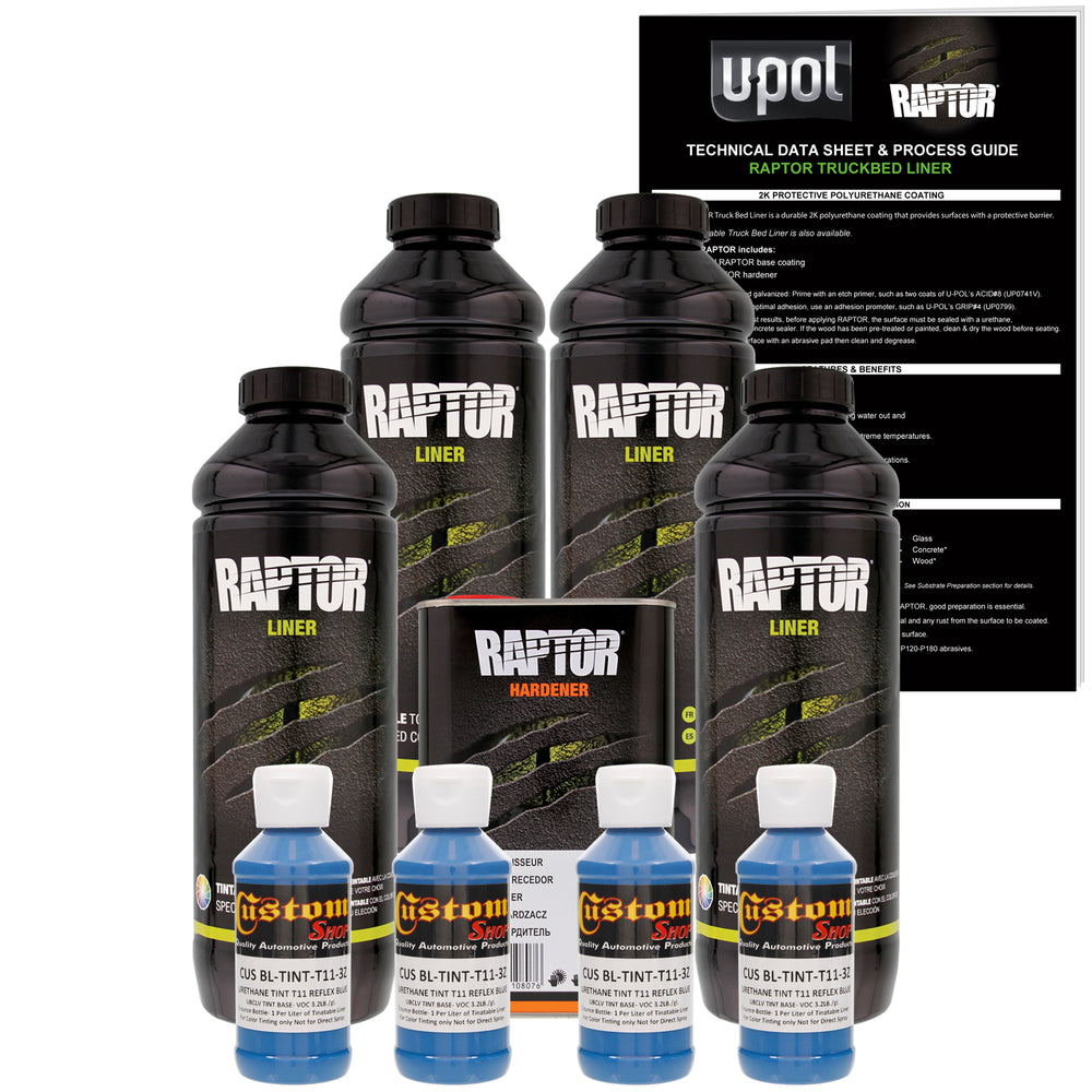 Reflex Blue - U-POL Urethane Spray-On Truck Bed Liner & Texture Coating, 4 Liters