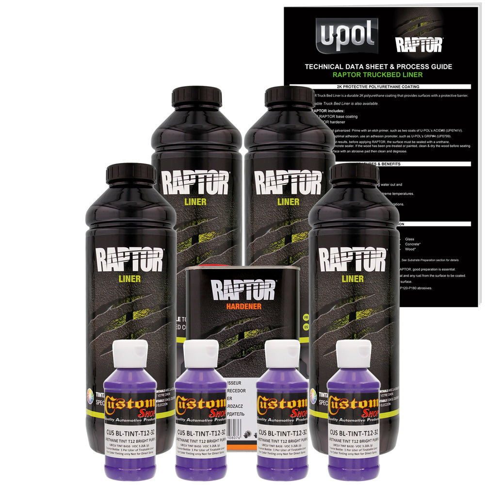 Bright Purple - U-POL Urethane Spray-On Truck Bed Liner & Texture Coating, 4 Liters