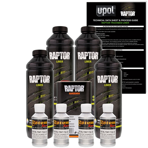 Bright Silver - U-POL Urethane Spray-On Truck Bed Liner & Texture Coating, 4 Liters