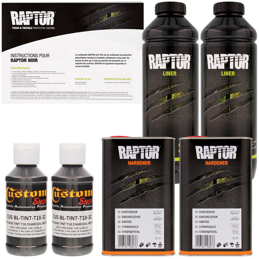 Charcoal Metallic - U-POL Urethane Spray-On Truck Bed Liner & Texture Coating, 2 Liters
