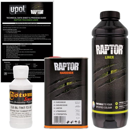 Bright White - U-POL Urethane Spray-On Truck Bed Liner & Texture Coating, 1 Liter