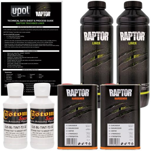 Bright White - U-POL Urethane Spray-On Truck Bed Liner & Texture Coating, 2 Liters