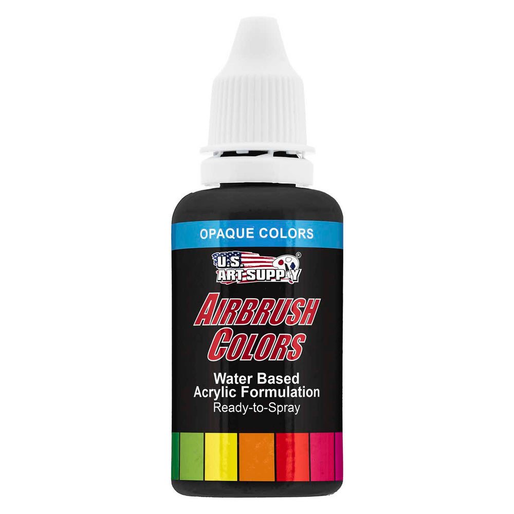 Deep Black, Opaque Acrylic Airbrush Paint, 1 oz.