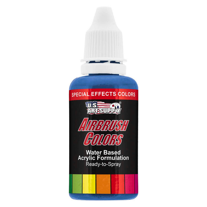 Neon Blue, Fluorescent Special Effects Acrylic Airbrush Paint, 1 oz.