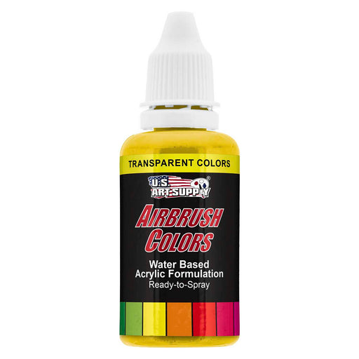 Bright Yellow, Transparent Acrylic Airbrush Paint, 1 oz.