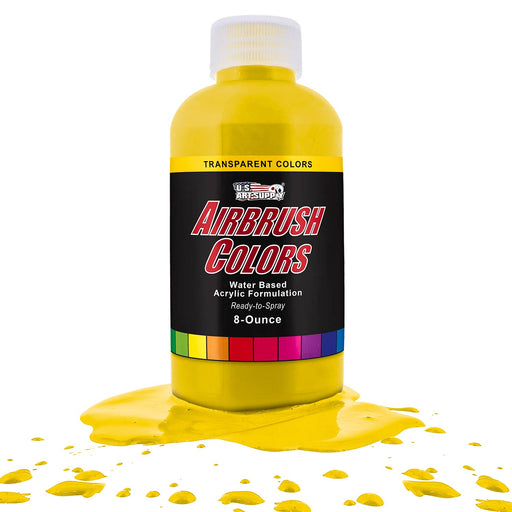Bright Yellow, Transparent Acrylic Airbrush Paint, 8 oz.