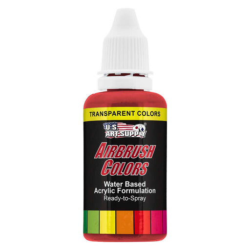 Bright Red, Transparent Acrylic Airbrush Paint, 1 oz.