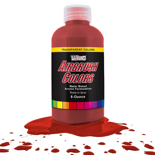 Bright Red, Transparent Acrylic Airbrush Paint, 8 oz.