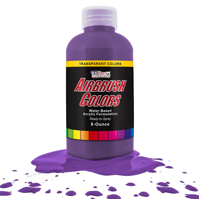 Deep Purple, Transparent Acrylic Airbrush Paint, 8 oz.