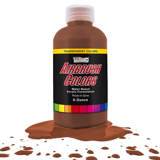 Coffee Brown, Transparent Acrylic Airbrush Paint, 8 oz.
