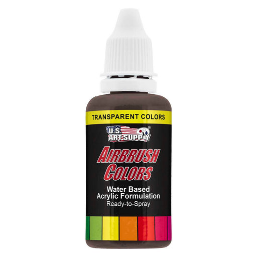 Dark Brown, Transparent Acrylic Airbrush Paint, 1 oz.
