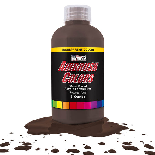 Dark Brown, Transparent Acrylic Airbrush Paint, 8 oz.