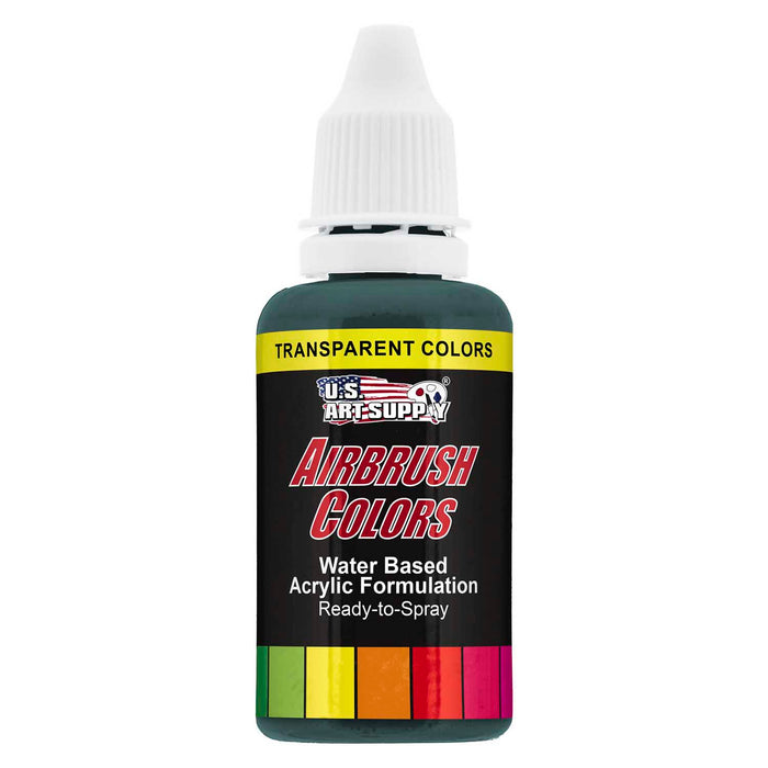 Phthalo Green, Transparent Acrylic Airbrush Paint, 1 oz.