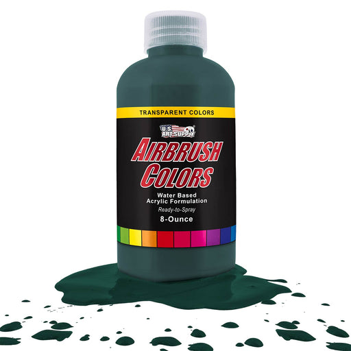 Phthalo Green, Transparent Acrylic Airbrush Paint, 8 oz.