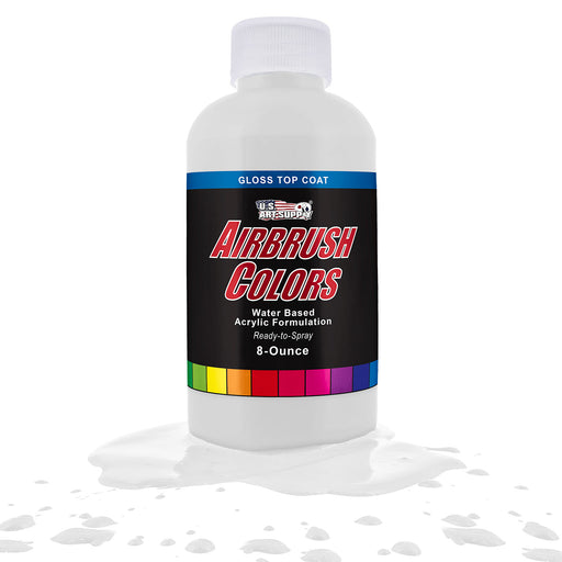 Clear Gloss Topcoat, Acrylic Airbrush Paint, 8 oz.