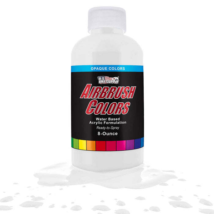 White, Opaque Acrylic Airbrush Paint, 8 oz.