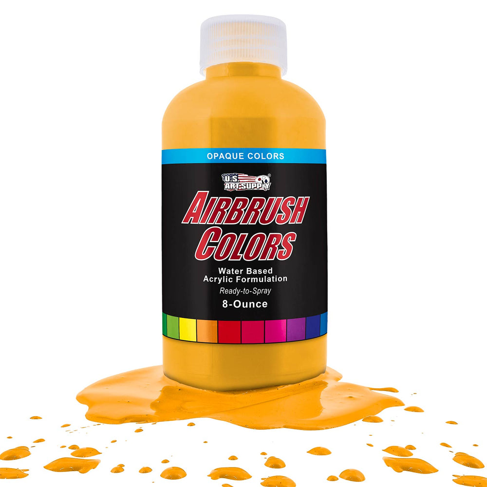 Canary Yellow, Opaque Acrylic Airbrush Paint, 8 oz.