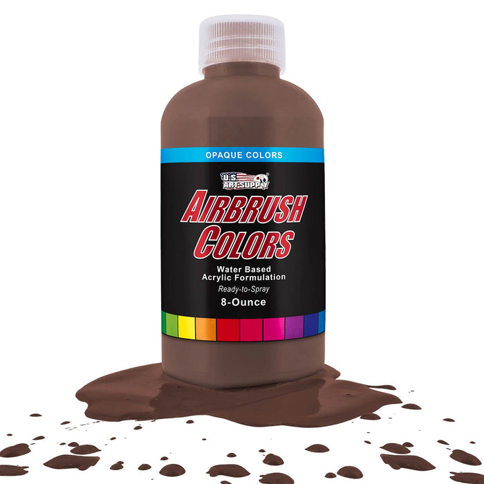 Dark Brown, Opaque Acrylic Airbrush Paint, 8 oz.