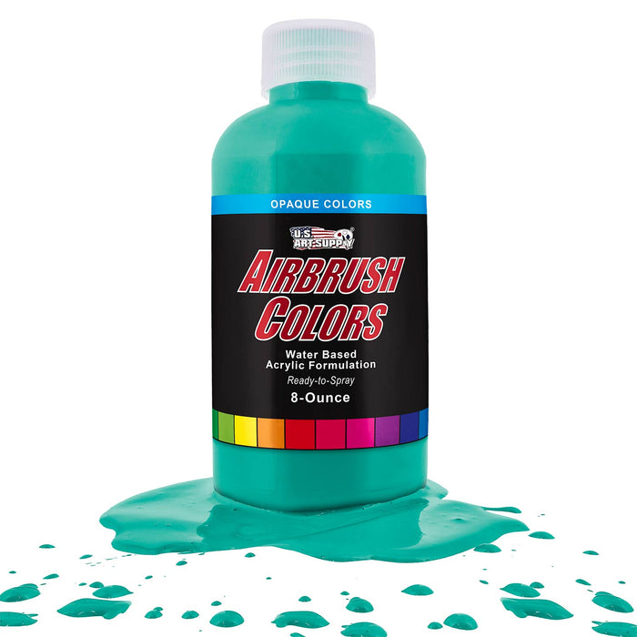 Aqua Blue, Opaque Acrylic Airbrush Paint, 8 oz.