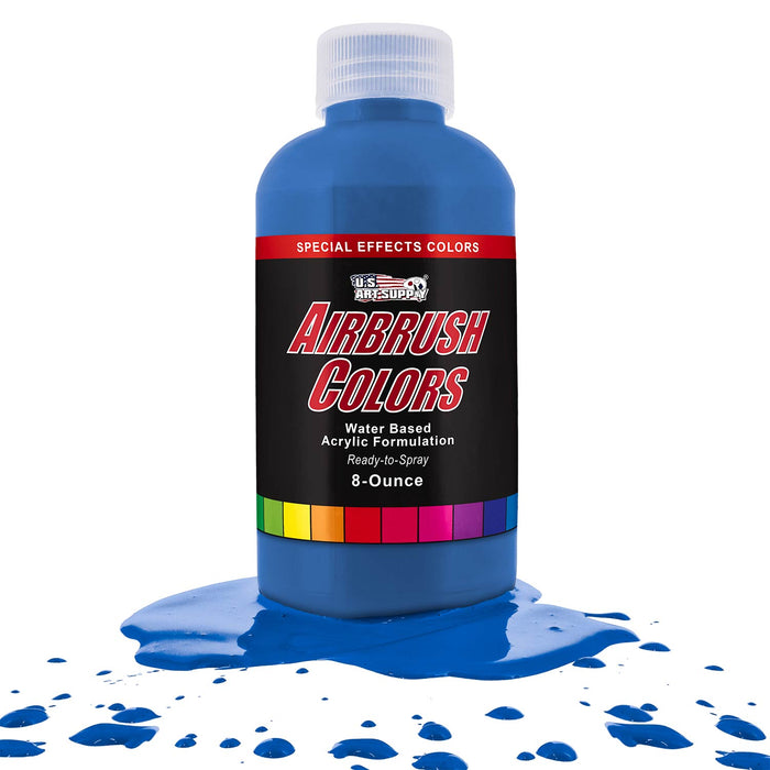 Neon Blue, Fluorescent Special Effects Acrylic Airbrush Paint, 8 oz.