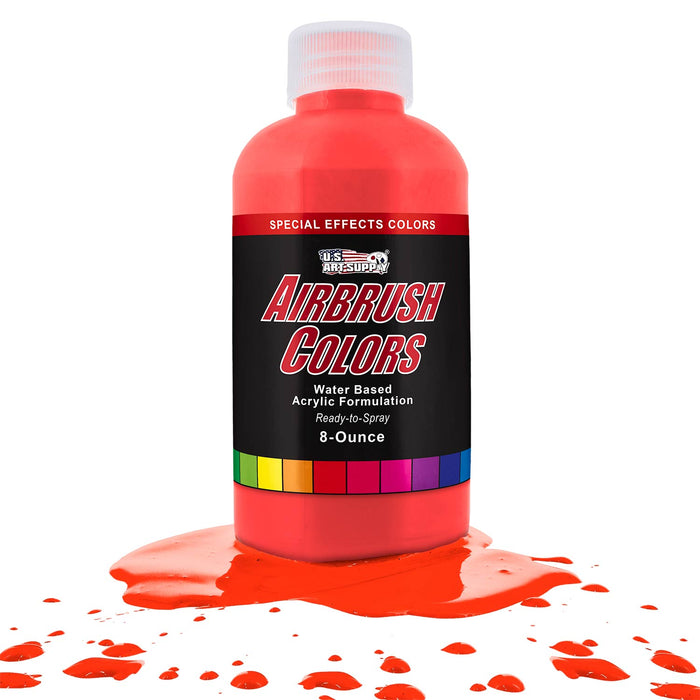 Neon Red, Fluorescent Special Effects Acrylic Airbrush Paint, 8 oz.