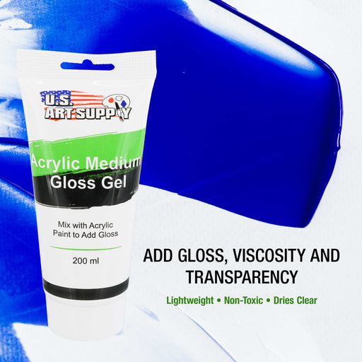 Gel Medium Gloss Acrylic Medium, 200ml Tube