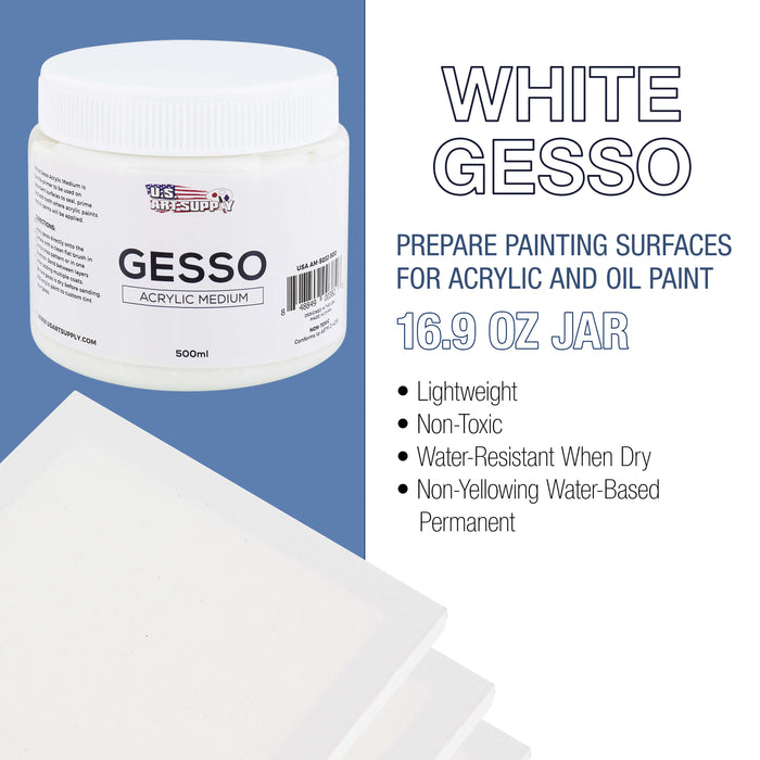 White Gesso Acrylic Medium, 500ml Tub