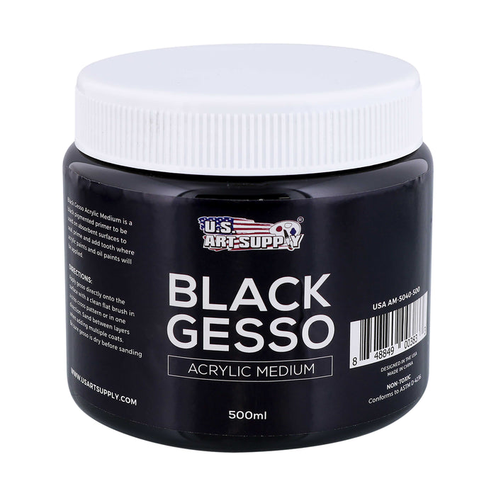 Black Gesso Acrylic Medium, 500ml Tube
