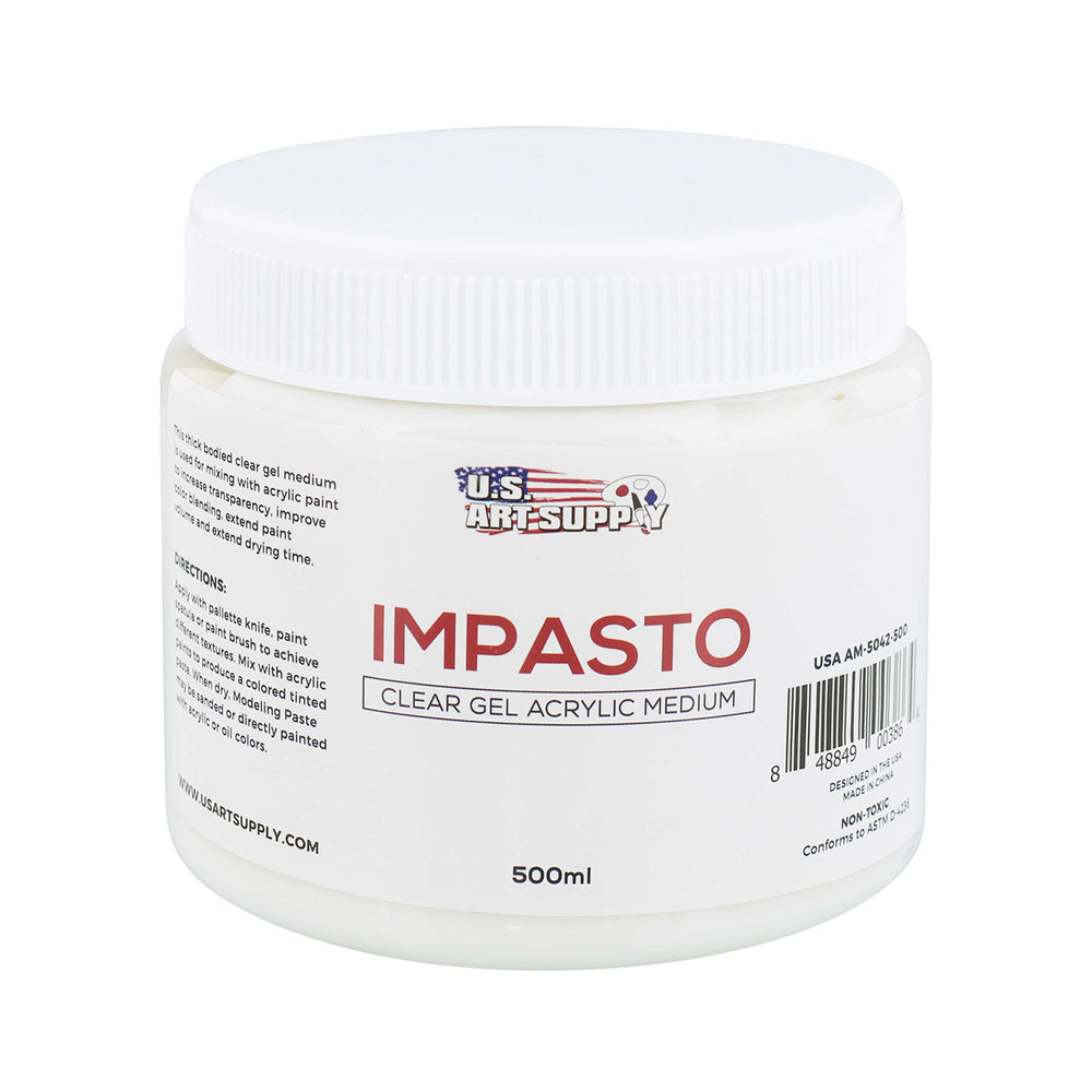 Impasto Clear Gel Acrylic Medium, 500ml Tub